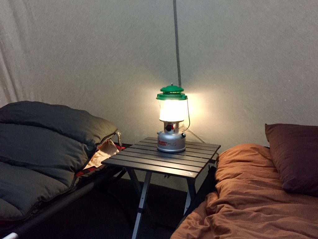 Kodiak Canvas 10 x 14 Tent Interior. (Note the lantern in the photo is battery operated not liquid fuel. Hunt Tested would not recommend the use of a ... & Canvas Tent Review: Kodiak Canvas 10 X 14 FT. Flex Bow Deluxe Tent ...
