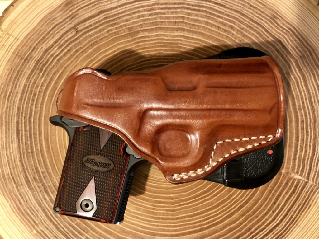 Sig Sauer P938 in Masc Paddle Holster