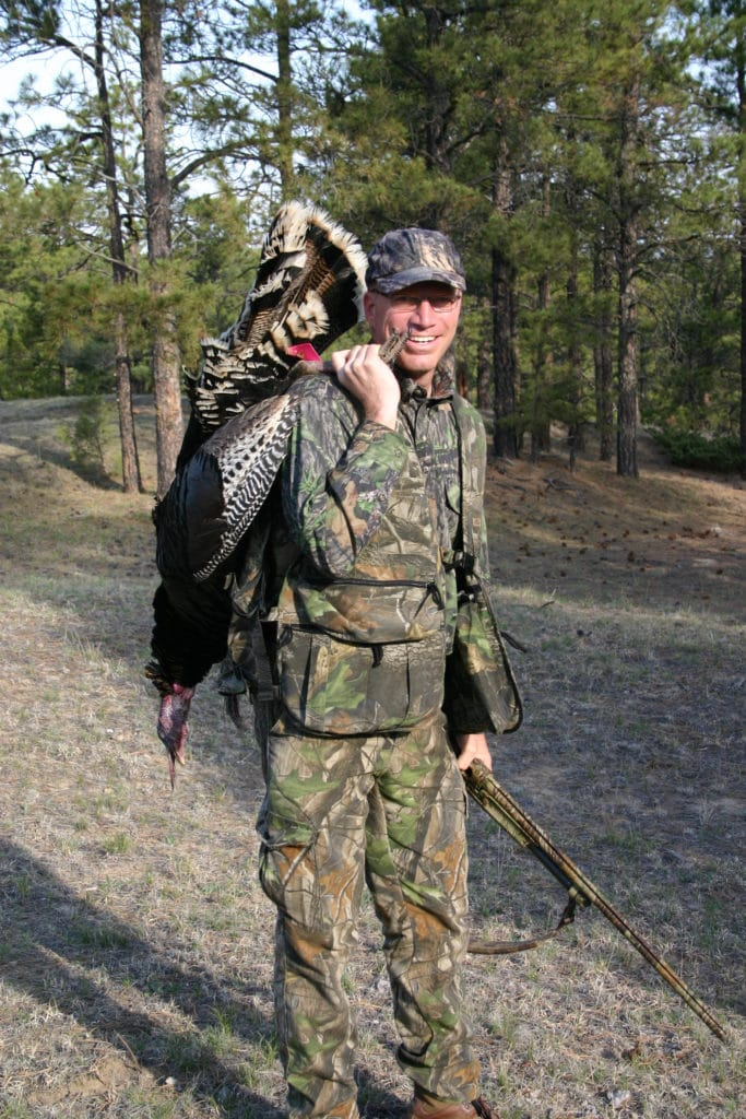 Hunter with turkey
