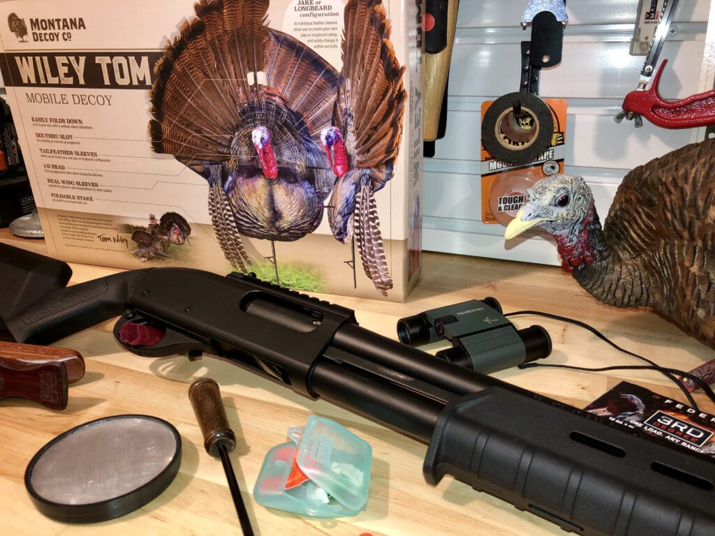 Remington 870 Tactical Shotgun and Turkey Hunting Gear